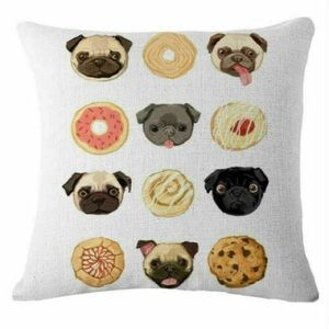 Pug pillow case Cushion accents decor for home
